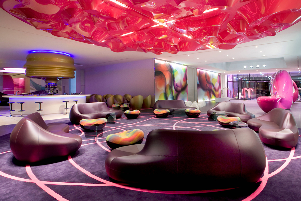 nhow music hotel in berlin by karim rashid. Black Bedroom Furniture Sets. Home Design Ideas