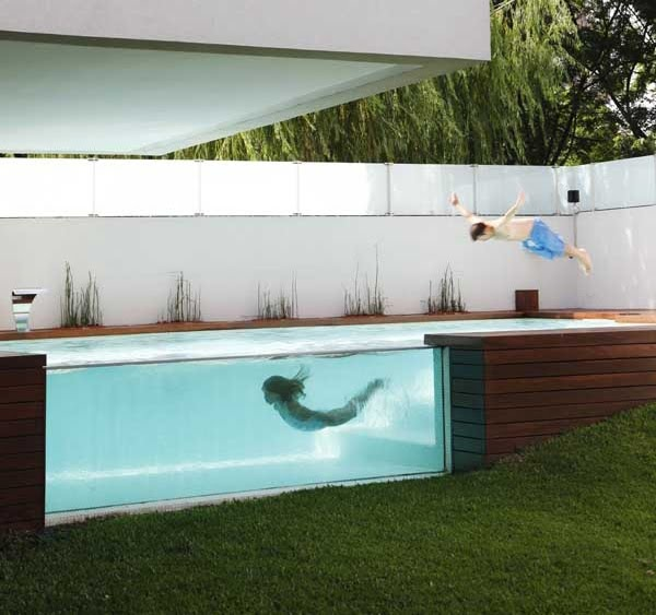 An Intriguing Over Ground Home Pool Photos