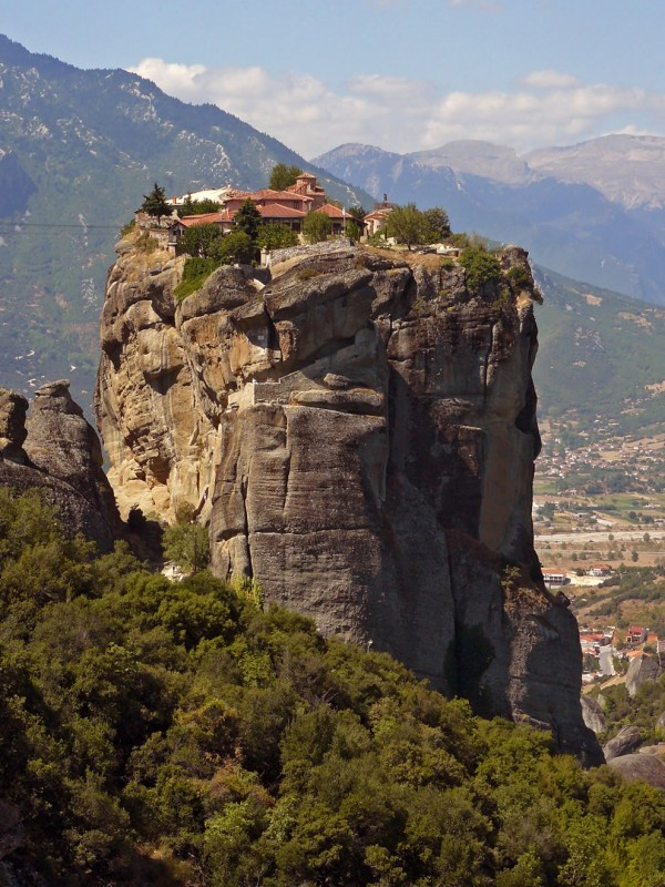 Meteora Holy Trinity, Agia Triada monastery, was built in 1475 and since remodeled many times. Meteora is bizarre but so beautiful. Photo by Charalampos Konstantinidis