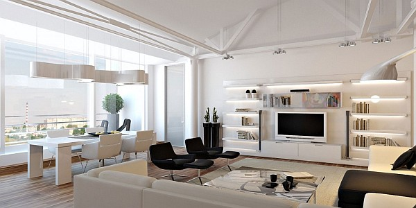 An All White Loft Apartment In Moldova By Grosu Art Studio