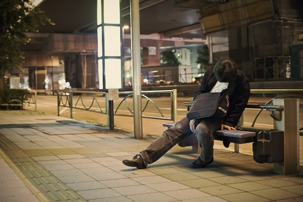 Overly Exhausted People Caught Falling Asleep In Tokyo