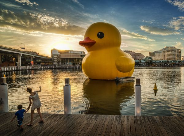 The Giant Inflatable Rubber Duck Is A Floating Sculpture By Dutch  Conceptual Artist Florentijn Hofman, That Traveled The Worldu0027s Waterways  For Several Years ...