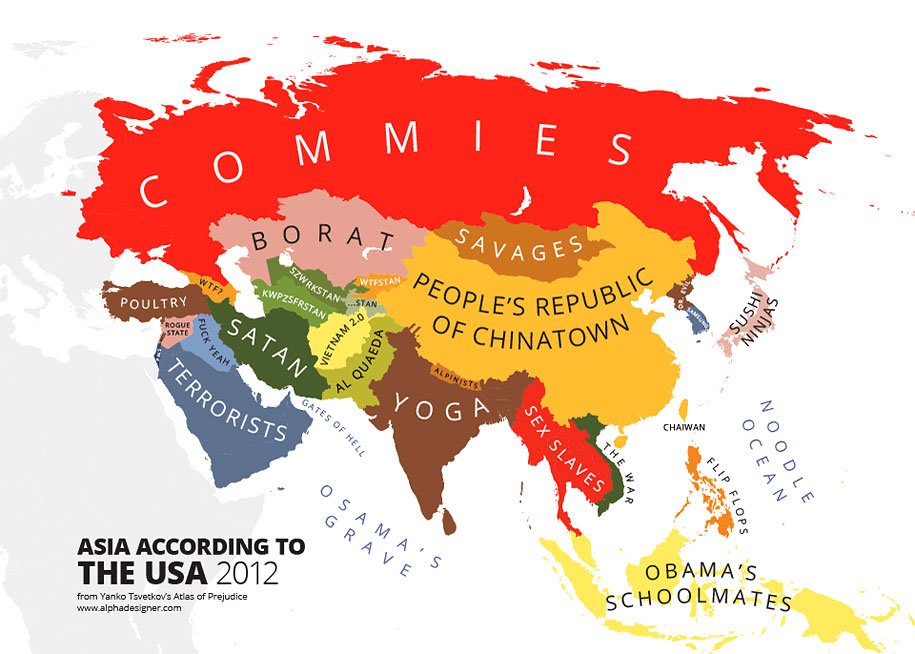 Mapping the worlds stereotypes in 31 humorous images find your country in each map and let us know how accurate they are in the comments below enjoy gumiabroncs