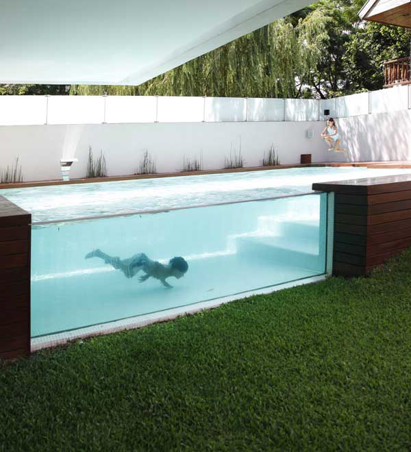 An Intriguing Over Ground Home Pool
